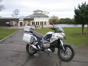 Honda Crosstourer road test, the bike pictured near the Discovery Centre, Cleethorpes.