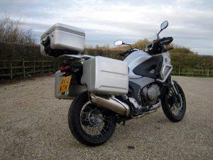 Honda Crosstourer road test - luggage boxes make it a practical machine.