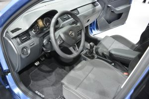 The interior is simple, but decent quality.