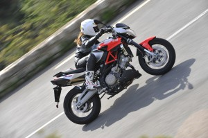 The Aprilia Shiver is an ideal starter bike.