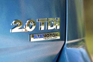 New VW Golf BlueMotion boot badge