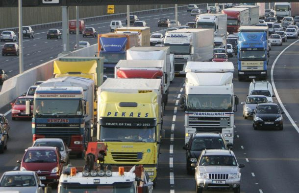 Road congestion in UK hits a 10-year high