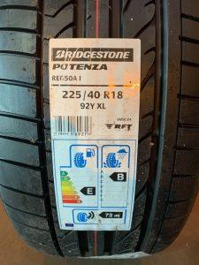 Bridgestone Potenza tyre label