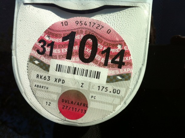 Car tax disc rule changes
