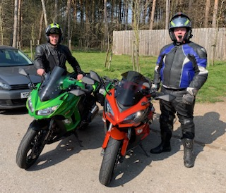 Kawasaki bikes on tour