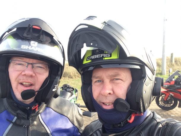 Dave and Steve - ready for their next two-wheeled adventure.