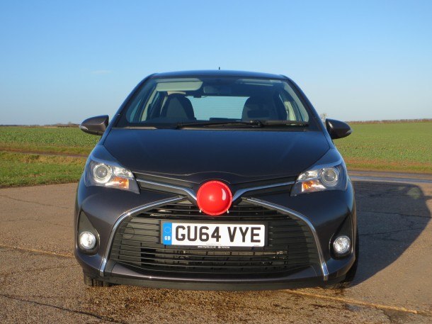 Toyota Yaris 1.33 VVT-i Icon 5-door road test report and review Red Nose Day