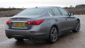 Does the Infiniti Q50s rear end resembles a BMW, or Mercedes, or something else?