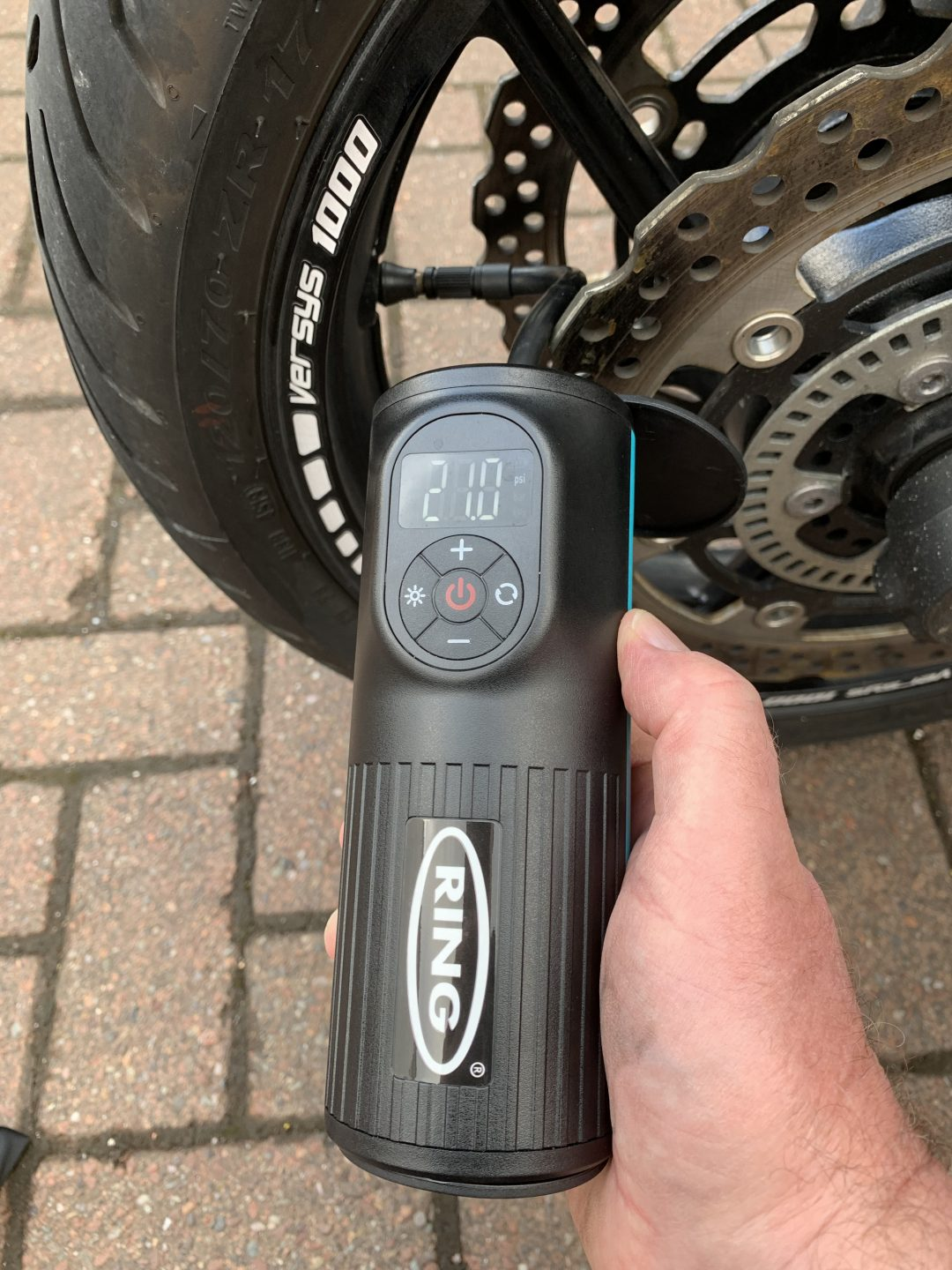 Ring rechargeable tyre inflator – handy gadget that keeps you pumped up and fully charged