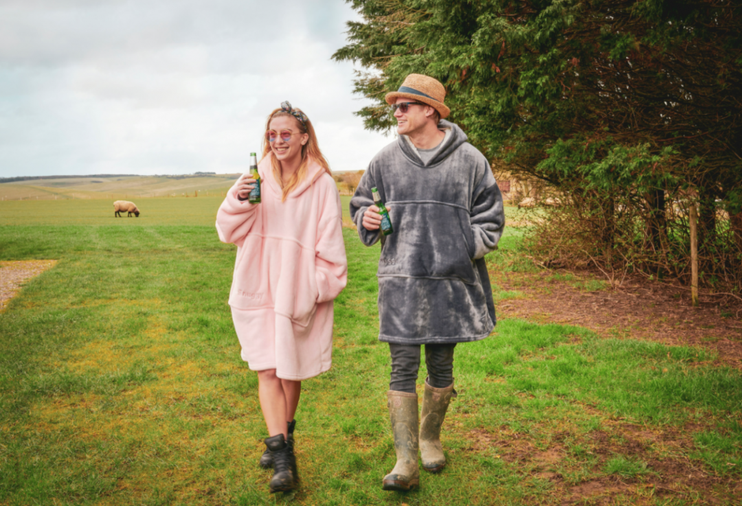 The Snuggy is an oversized hoodie that's perfect for keeping warm on cool mornings and evenings