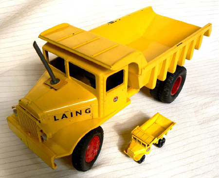 The record-breaking Matchbox truck.