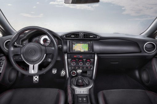 The interior of the GT 86.