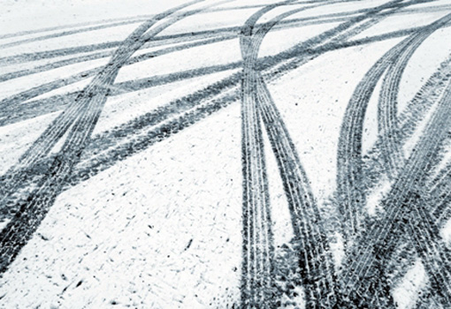 Winter weather increases the skid risk