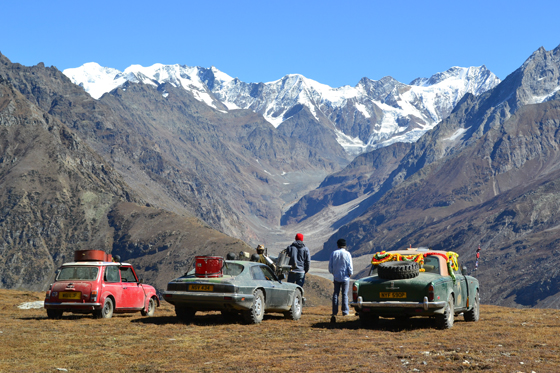 C The remains of what were three great British cars complete their journey in the foothills of the Himalayas.