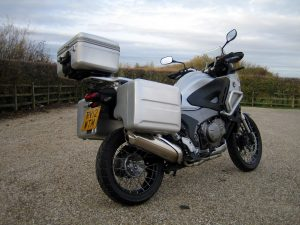 Honda Crosstourer road test - luggage boxes make it a practical machine.