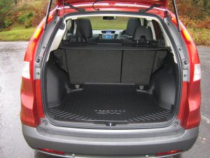 New Honda CR-V range - the boot is deep and wide.