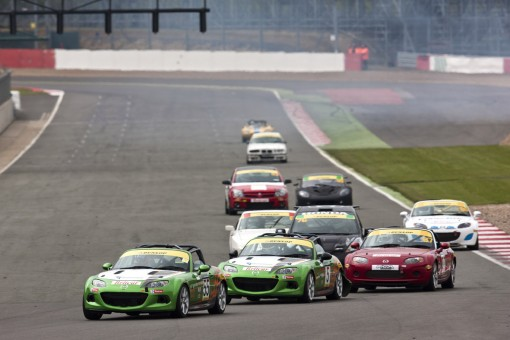 Mazda MX-5 Britcar race at Silverstone International